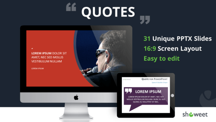 quotes free powerpoint template