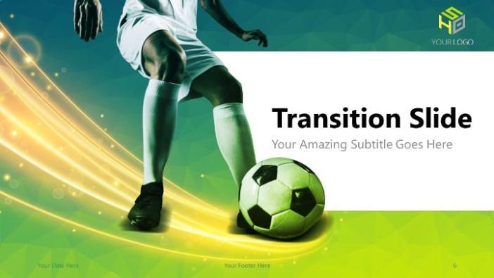Soccer Modern Free Powerpoint Template