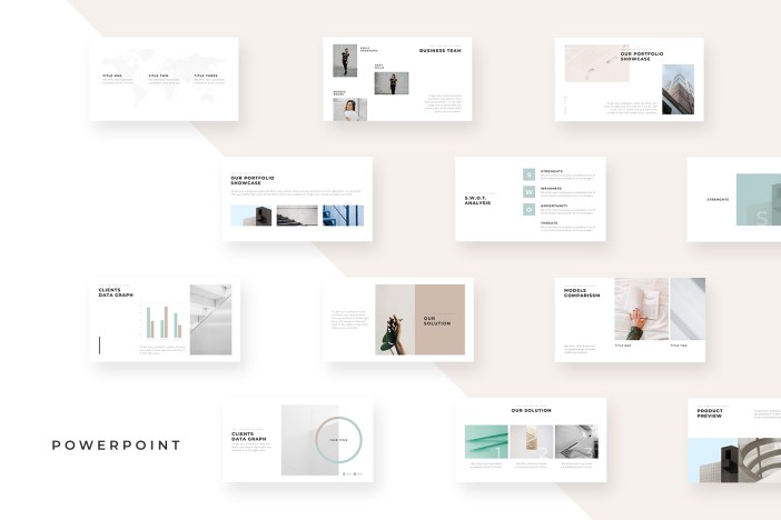 Unique Minimal PowerPoint Templates