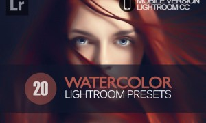 20 Watercolor Lightroom Mobile bundle