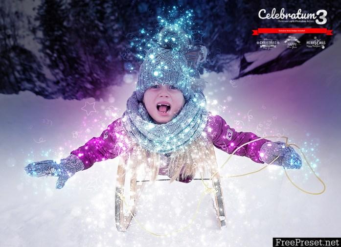 Celebratum 3 - Christmas Lights Photoshop Action