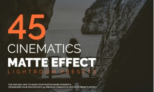45 Cinematics Matte Effect LR Presets