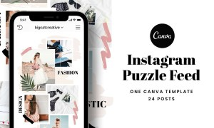 Instagram Puzzle Feed Template 3328620