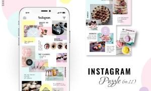 Instagram PUZZLE template - Baker 3333819
