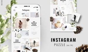 Instagram PUZZLE template - Natural 3396329