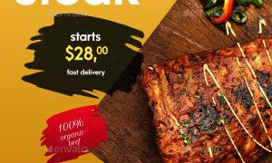 Restaurant - Food Social Media Post and Stories 23443473
