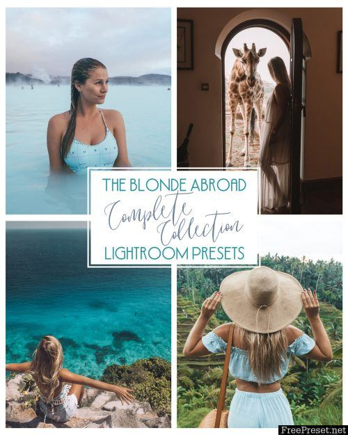 611d543be080 The Blonde Abroad Complete Collection Lightroom Presets