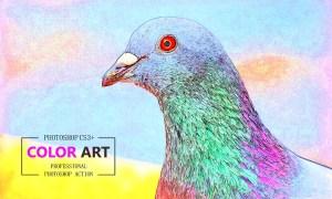 Color Art Photoshop Action 3619084