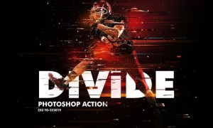 Divide 2 Photoshop Action LV8G2MNTypoMix 2 Action – is a Photoshop Action that you can use it to create photo manipulation artworks includes Lights , Glitter & Divided Lines Effect.  This action made for Designers and Photographers who are looking for new and attractive creative pictures and designs. Also anyone can use this action as it is very easy to use , No need professional skills to create unique artworks such as CD covers , Posters , Flyers , Ad Campaigns , Social Media Uses , etc.  Features • Works with Photoshop CS3 & Higher Versions. • Works in All Photoshop Languages. • Fast & Easy To use. • Non-Destructive Product. • Help File With Instructions.