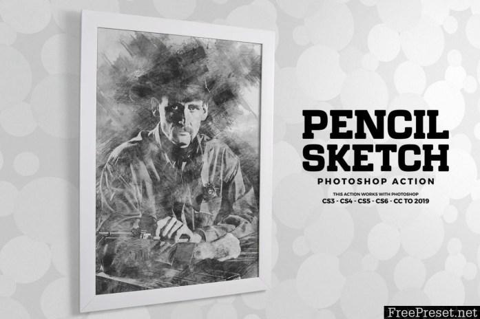 Pencil Sketch Photoshop Action 3G475FS