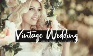 Vintage Wedding Mobile & Desktop Lightroom Presets NVTA8HK