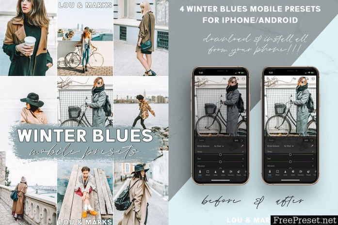 Winter Blues Mobile Presets 3621104