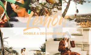 5 Mobile and Desktop Lightroom Presets Lemon 23856162
