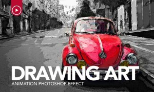 Drawing Art Animation Photoshop Action NGLNJX