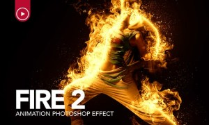 Fire Animation Photoshop Action version 2 WFFBJM