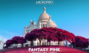 MicroPro Fantasy Pink Photoshop Action FQA3U2