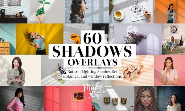 Natural shadows overlays set 3784364
