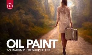 Oil Paint Animation Photoshop Action Y87P46