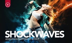 Shockwaves Animation Photoshop Action SLY4GQ