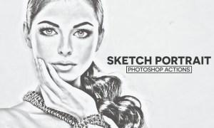 Sketch Portrait Photoshop Actions RS5RXM