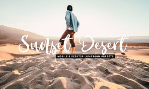 Sunset Desert Mobile & Desktop Lightroom Presets