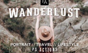 Wanderlust Photoshop Action H38F6Q