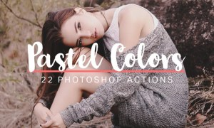 22 Soft Pastel Photoshop Actions NFNMWL