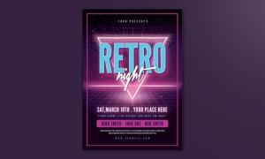80's Retro Flyer YRWJJM - AI, PSD