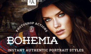 Bohemia Photoshop Actions WZK8X6