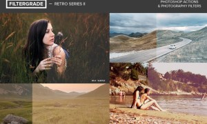 FilterGrade Retro Series II Photoshop Actions CYYS8L