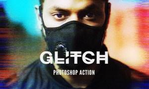 Glitch 2 Photoshop Action 3VP3A4