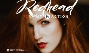 Redhead Photoshop Action D95NKW