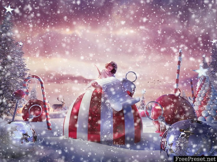 Snow Animation Photoshop Action