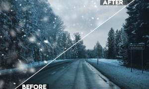 Snow Effect Photoshop Action E2KMRX