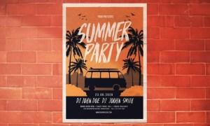 Summer Party Flyer K5LXTB - PSD