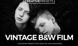 Vintage Film Black & White Lightroom Presets