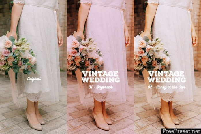 Vintage Wedding Action for Photoshop