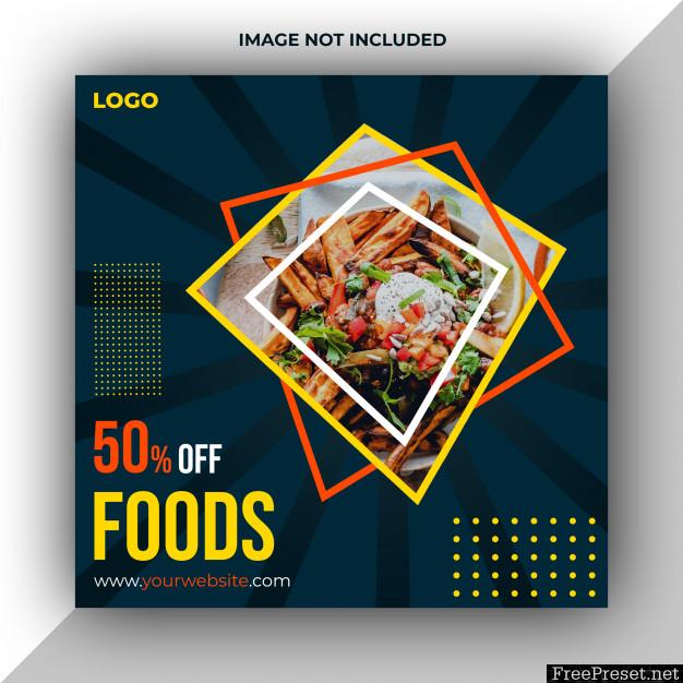 Restaurant Foods Social Media Post Template 5123274
