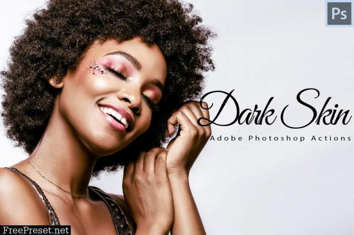 6 Dark Skin Photoshop Actions 339445