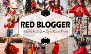 Red Blogger Mobile & Desktop Lightroom 1823596