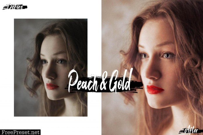 09 Peach & Gold Mobile Lightroom Presets 2536514