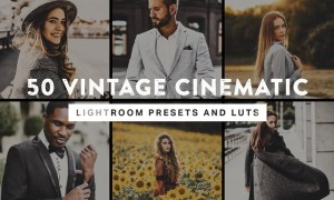 50 Vintage Cinematic Lightroom Presets and LUTs