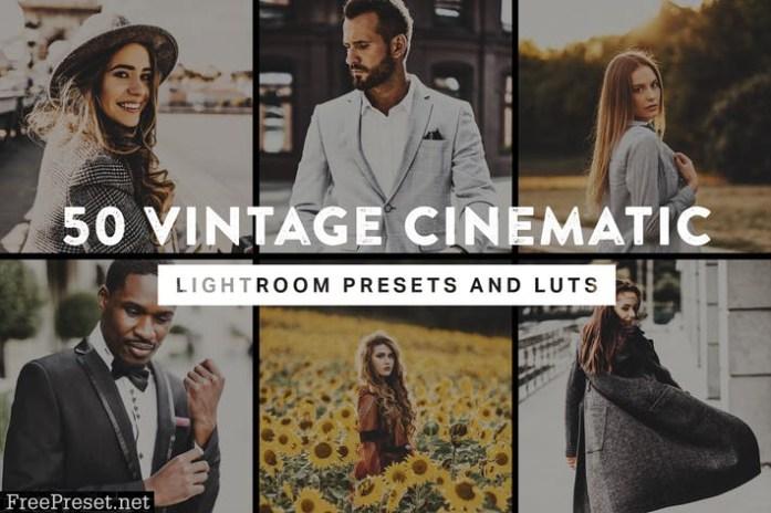 50 Vintage Cinematic Lightroom Presets and LUTs