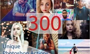 300 Unique Photoshop Actions