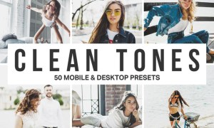 50 Clean Tones Lightroom Presets and LUTs