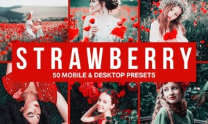 50 Strawberry Lightroom Presets and LUTs