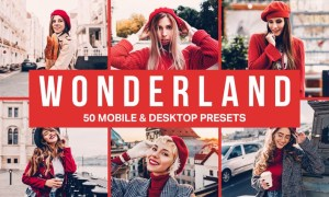 50 Wonderland Lightroom Presets and LUTs