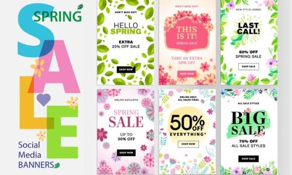 Spring sale banners UZ3Q7VZ