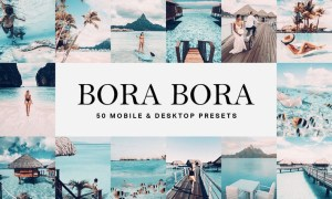 50 Bora Bora Lightroom Presets and LUTs