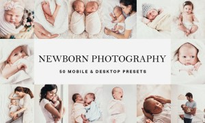 50 Newborn Baby Lightroom Presets and LUTs